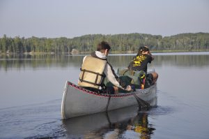 Boy Scout High Adventure canoeing