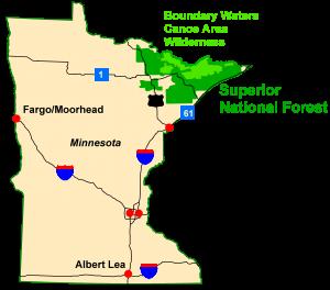Minnesota-BW map